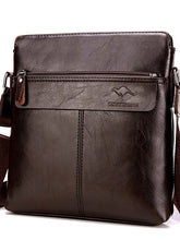 Load image into Gallery viewer, Men's Zipper Shoulder Messenger Bag PU(Polyurethane) Animal Black / Dark Brown / Khaki