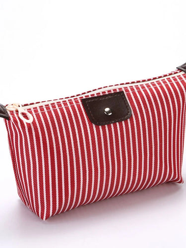 Waterproof Zipper Cosmetic Bag Striped Striped Polyester Event / Party Pale Blue / Fuchsia / Khaki / Fall & Winter