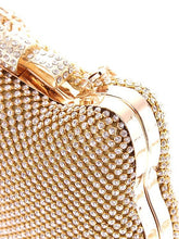 Load image into Gallery viewer, L.WEST® Women's Bow(s) / Crystals Evening Bag Rhinestone Crystal Evening Bags Polyester Character Gold / Silver