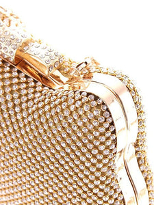 L.WEST® Women's Bow(s) / Crystals Evening Bag Rhinestone Crystal Evening Bags Polyester Character Gold / Silver