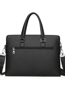 Men's Zipper Briefcase PU(Polyurethane) Blue / Black / Brown