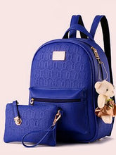 Load image into Gallery viewer, Women's School Bag Bag Sets PU(Polyurethane) Fuchsia / Blue / Wine