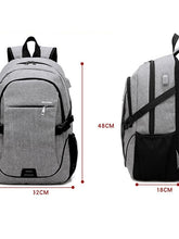 Load image into Gallery viewer, Men's Zipper School Bag Backpack Oxford Cloth Black / Gray / Purple