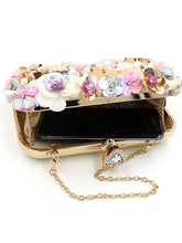 Load image into Gallery viewer, L.WEST® Women's Imitation Pearl / Crystal / Rhinestone / Flower Evening Bag Rhinestone Crystal Evening Bags Polyester Floral Print Rainbow / Wedding Bags / Wedding Bags