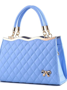Women's Ruffles Tote PU(Polyurethane) Solid Colored Wine / Light Blue / Royal Blue