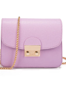 Women's Crossbody Bag PU(Polyurethane) Solid Colored Purple / Yellow / Fuchsia / Messenger