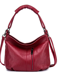 Women's Crossbody Bag Cowhide Solid Color Blushing Pink / Gray / Wine / Fall & Winter