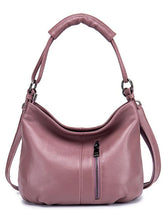 Load image into Gallery viewer, Women's Crossbody Bag Cowhide Solid Color Blushing Pink / Gray / Wine / Fall & Winter