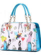 Load image into Gallery viewer, Women's Rivet Top Handle Bag PU(Polyurethane) Artwork Pink / Light Blue / Lavender