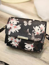 Load image into Gallery viewer, Women's Embossed Shoulder Messenger Bag PU(Polyurethane) Floral Print White / Black / Black / White