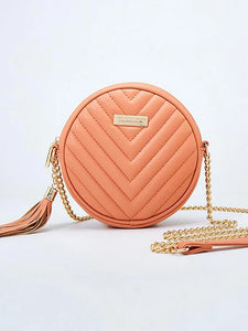 Women's Tassel Crossbody Bag PU(Polyurethane) Striped Red / Blushing Pink / Gray / Fall & Winter