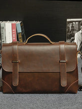 Load image into Gallery viewer, Men's Zipper Briefcase PU(Polyurethane) Black / Coffee / Fall & Winter