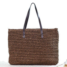 Load image into Gallery viewer, Summer Style Beach Bag Women Straw Tassel Shoulder Bag Brand Designer Handbags High Quality Ladies Casual Travel Bags