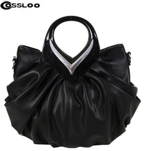 Load image into Gallery viewer, Promotion New Women Leather Handbags Bow Ruched Casual-bag Shoulder Messenger Bags Purses Bolsas Fashion Hand Bag Tote