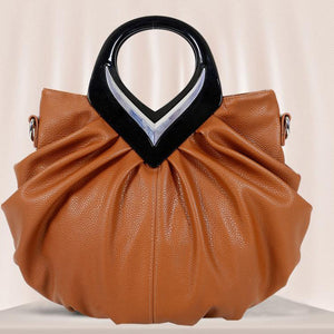 Promotion New Women Leather Handbags Bow Ruched Casual-bag Shoulder Messenger Bags Purses Bolsas Fashion Hand Bag Tote