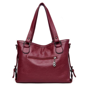 Summer Retro Large Women Handbags Fashion PU Leather Shoulder Bag Female Large Tote Handbag Ladies Shoulder Bag