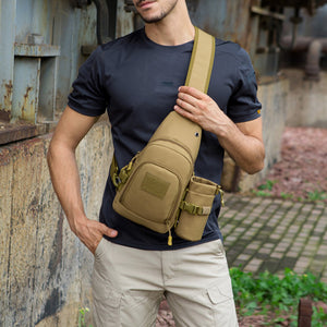 Portable Casual Outdoor Men Large Capacity Shoulder Sling Crossbody Chest Bag