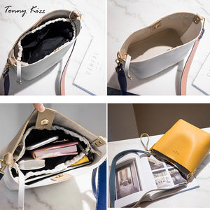 Women's Handbags Famous Fashion Brand Candy Shoulder Bags Ladies Simple Trapeze Women Messenger panelled Bag