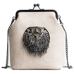 Messenger Bags for Women PU Leather Tassel Fashion Frame Bag 2018 New Arrival INS Style Crossbody Chains Shoulder Bags