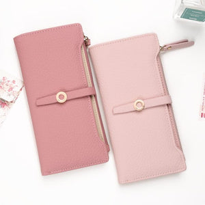 Latest Lovely Leather Long Women Wallet Fashion Girls Change Clasp Purse Money Coin Card Holders wallets Carteras