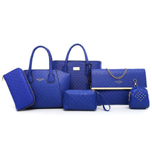 Load image into Gallery viewer, 6 Pcs Argyle Pattern Handbag Set