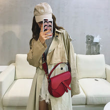 Load image into Gallery viewer, Women's Famous Designer Saddle Bag Shoulder Bag Luxury Handbag Crossbody For Women PU Leather Messenger Bags