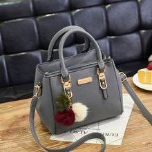 Load image into Gallery viewer, women hairball ornaments totes solid sequined handbag hotsale party purse ladies messenger crossbody shoulder bags
