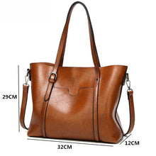 Load image into Gallery viewer, Women bag Oil wax Women's Leather Handbags Luxury Lady Hand Bags With Purse Pocket Women messenger bag