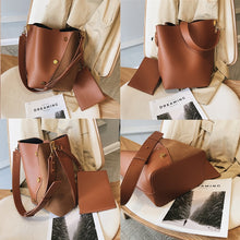Load image into Gallery viewer, Burminsa Suede Bucket Women Shoulder Messenger Bags Sets Vintage Wide Strap Ladies Handbags Patchwork Female Crossbody Bags