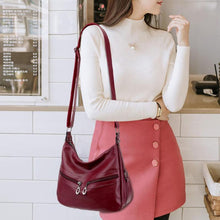 Load image into Gallery viewer, Women Hobos Handbag Brand Fashion Zipper PU Leather Shoulder Bag Elegant Ladies Messenger Bag Female Totes Shopping Bags
