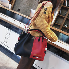 Load image into Gallery viewer, Luxury Handbags Women Bags Designer Womens Panelled Message Bag Female Leather Crossbody Bag Lock Shoulder Bags