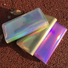 Load image into Gallery viewer, Hologram Zipper Clutch Wallet Women Long Wallets Money Purse Female Slim Wallet Organizer Card Holder Phone Coin Purse