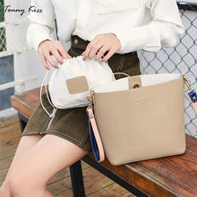 Load image into Gallery viewer, Women's Handbags Famous Fashion Brand Candy Shoulder Bags Ladies Simple Trapeze Women Messenger panelled Bag