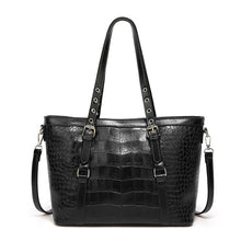 Load image into Gallery viewer, Women Large Capacity Shoulder Bag for Female Solid Crocodile Pattern Top-Handle Handbags