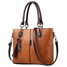 Load image into Gallery viewer, Women Bag Vintage Casual Tote Fashion Women Messenger Bags Shoulder student Handbag Purse Wallet Leather