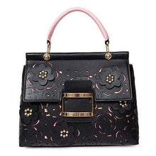 Load image into Gallery viewer, Spring Summer Ladies Handbags Hollow Out Lock Women Shoulder Bag Lady Floral Young Ladies Totes Big Shell Bag Elegant