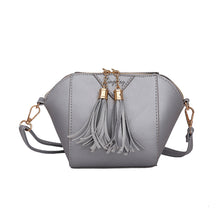 Load image into Gallery viewer, Women Fashion Faux Leather Small Handbag Tassel Zipper Crossbody Shoulder Bag