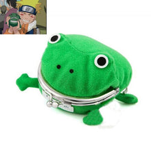 Load image into Gallery viewer, Hokage Ninjia Naruto Frog Coin Purse Cosplay Props Frog Wallet Anime Cartoon Manga Flannel Coin holder Cute Animal