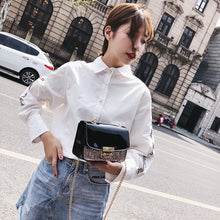 Load image into Gallery viewer, Fashion Shimmer Faux Leather Women Shopping Crossbody Clutch Bag Chain Gift