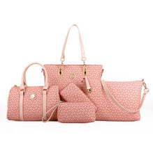 Load image into Gallery viewer, 6 pcs lady set bag Women handbag with shoulder bag+Totes+clutch+key holder