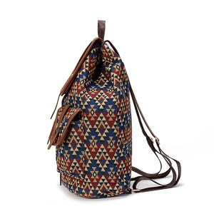 Sansarya New Hollow Out PU Leather Bohemian Vintage Women Backpack Teenage Gilrs School Female Ladies Drawstring Bag Rucksack