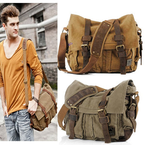 Men Military Army Vintage Crossbody Bag Men's Messenger Shoulder large Bags Casual Teenagers High Quality shoulder bag