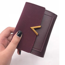 Load image into Gallery viewer, Matte Leather Small Women Wallet Luxury Brand Famous Mini Womens Wallets And Purses Short Female Coin Purse Credit Card Holder