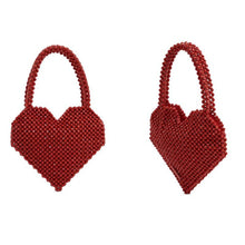 Load image into Gallery viewer, Small Group Fashion Love Handmade Bag Red / Bblack Top-Handle Bags