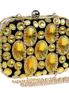 Women's Crystals Evening Bag Rhinestone Crystal Evening Bags Polyester / ABS+PC Gold / Purple / Rainbow