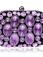 Load image into Gallery viewer, Women's Crystals Evening Bag Rhinestone Crystal Evening Bags Polyester / ABS+PC Gold / Purple / Rainbow