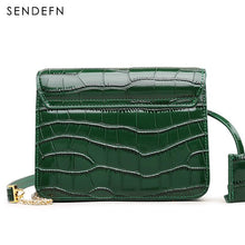 Load image into Gallery viewer, Sendefn Crocodile Pattern Crossbody Bag Split Leather  Female  Brand Handbag Quality Women Messenger