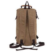 Load image into Gallery viewer, Men Vintage Canvas Backpack Camping Gym Zip Luggage Sports Travel Crossbody Bag