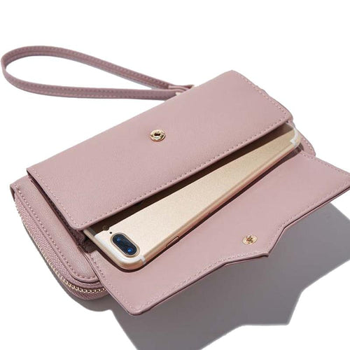Women Wallets Women Purse Female Wallet Pu Leather Soft Long Wallets Chain Purse Large Capacity Luxury Brands Clutch Bags