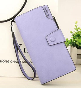 Fashion Women's Handbag Long Wallet Zipper Pocket Women's Purse Coin Card Holder Clutch Bifold Slim Purse Coin Female